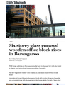 "International House Sydney: ""Six storey glass encased wooden office block rises in Barangaroo"""