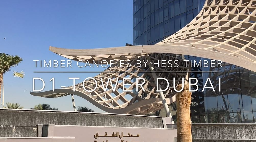 D1-Tower Dubai // Glulam structure by HESS TIMBER